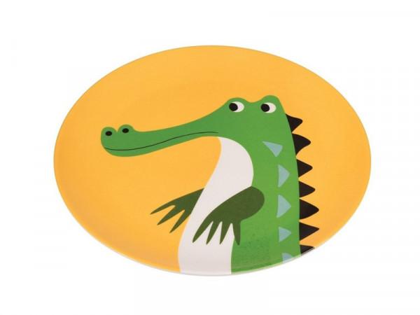 Rex International Kinder Melaminteller Motiv Krokodil