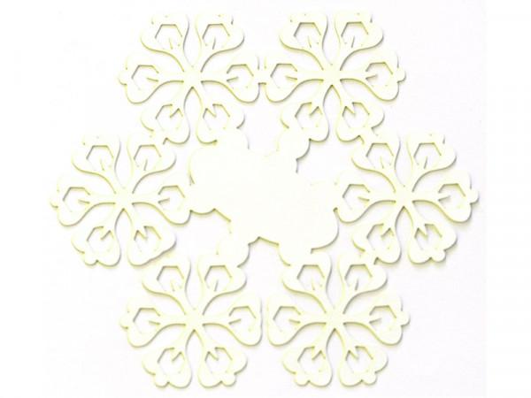 Elfenstall Namenskärtchen 10 Stück Schneeblume Weiß