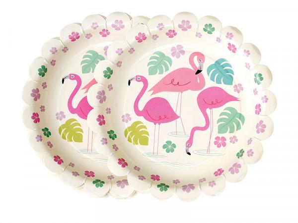 Rex International Kinder Pappteller mit Motiv Flamingo Bay 8 Stück