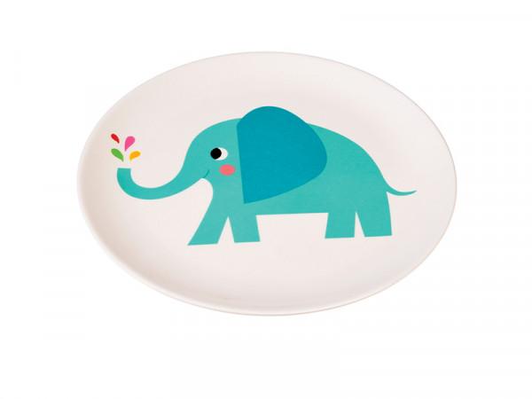 Rex London Kinder Melaminteller Motiv Elvis der Elefant