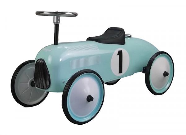 Magni Retro-Rutschauto Racer aus Metall in petrol