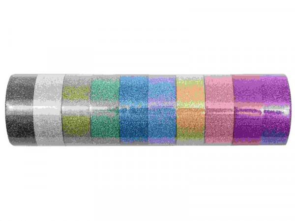 Paper Poetry Glitter Glitzer Tape Set Regenbogen bunt, 10 Farben