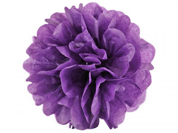 Elfenstall Seidenpapier PomPom in lila 15 cm
