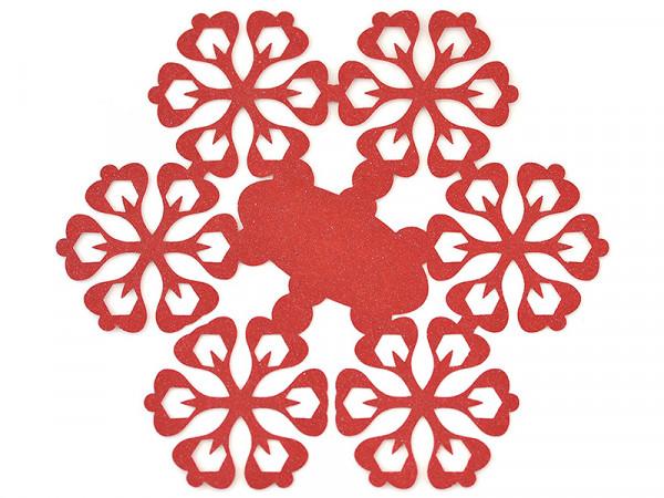 Elfenstall Namenskärtchen 10 Stück Schneeblume Rot