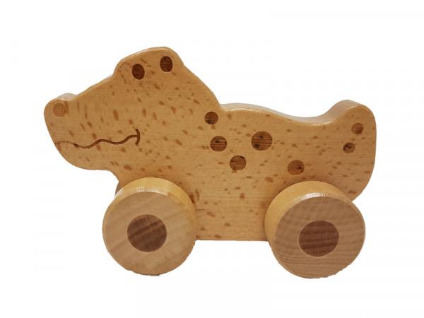 Jouéco Kinder Holz Schiebetier Rollendes Krokodil
