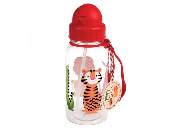 Rex International Kinder Trinkflasche Wasserflasche Safari Tiere