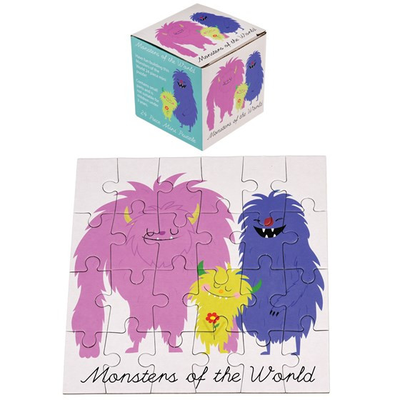 """24-teiliges Mini-Puzzle Monster """"Monsters of the World"""""""