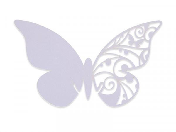 Elfenstall Namenskärtchen 10 Stück Schmetterling Flieder