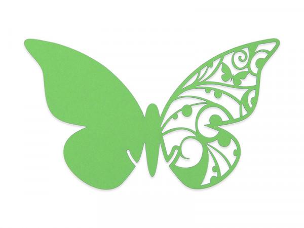Elfenstall Namenskärtchen 10 Stück Schmetterling grasgrün