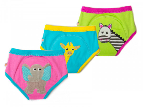 Zoocchini Training Pants Girls aus Bio-Baumwolle - Safari Friends