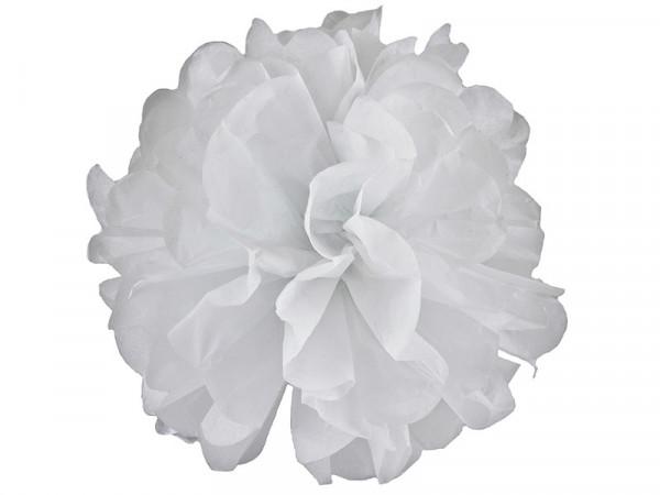 Elfenstall Seidenpapier PomPom in weiß 25 cm