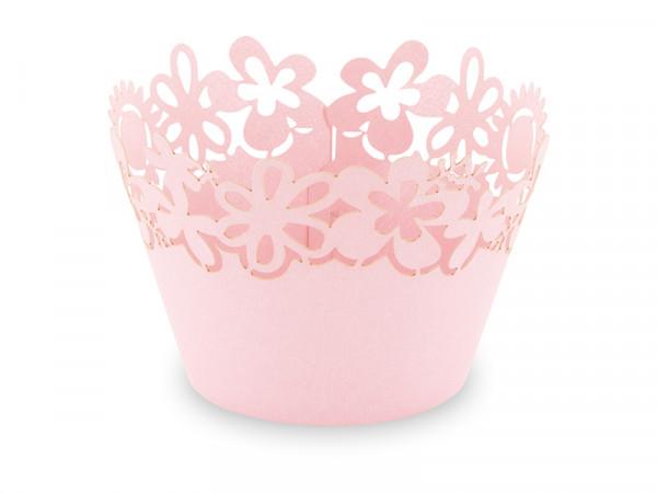 Elfenstall Muffin Zierumrandung 12 Stück Sonnenblumen Rosa