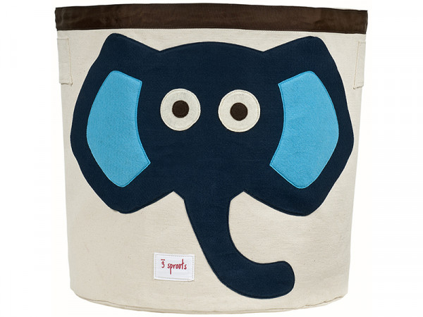 3 Sprouts Aufbewahrungskorb Spielzeugaufbewahrung Spielzeugkorb Elefant blau