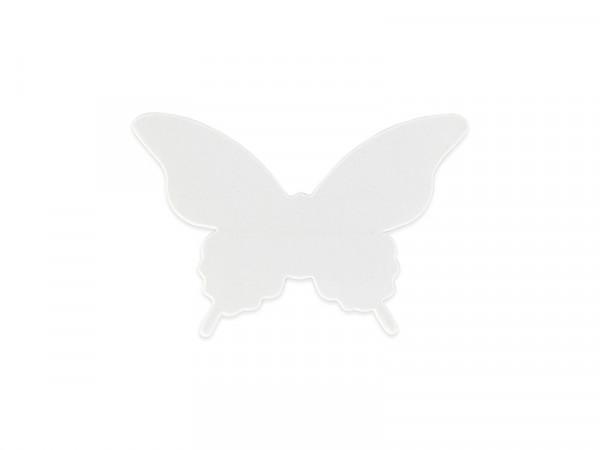 Elfenstall 3D Papier Wandsticker Schmetterling 20 Stück Farbe Weiß
