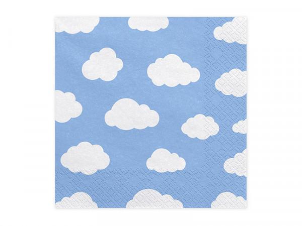 Servietten Papierservietten Kindergeburtstag Party Wolken hellblau 6 Stück
