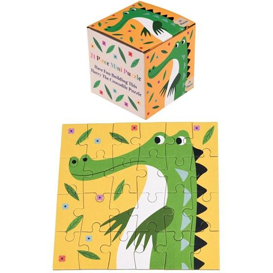 """24-teiliges Mini-Puzzle Krokodil """"Harry the Crocodile"""""""
