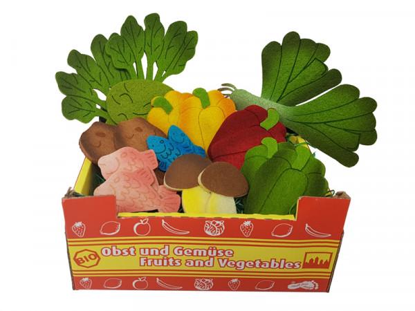 Elfenstall Kaufladen Zubehör Set Filz-Lebensmittel für Spielküche Einkaufsladen