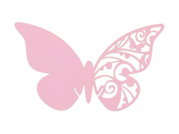 Elfenstall Namenskärtchen 10 Stück Schmetterling Pink