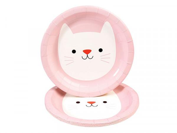 Rex International Kinder Pappteller mit Motiv Katze Cookie, 8 Stück