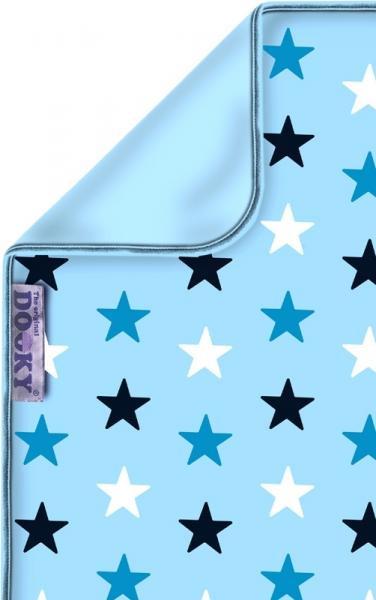Dooky Baby Decke Babydecke Kinderwagendecke Sterne blau