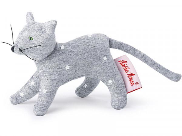 Käthe Kruse 0178401 Mini Greifling Katze, Sterne grau