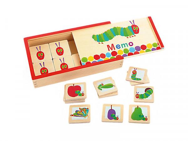 Small Foot Design Memory Spiel Memo aus Holz für Kinder Raupe Nimmersatt