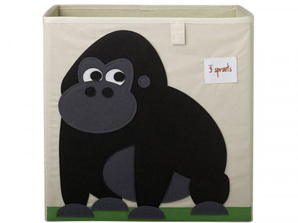 3 Sprouts Aufbewahrungsbox Regalbox Motiv Affe Gorilla
