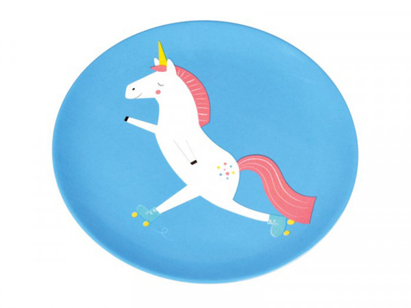 Rex International Kinder Melaminteller Motiv Magical unicorn