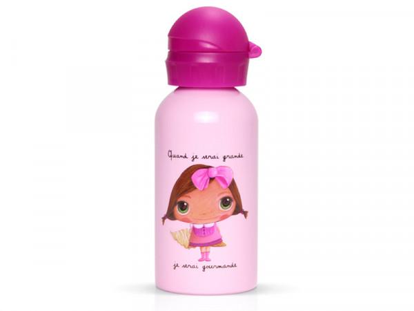 Label'tour Trinkflasche Wasserflasche für Kinder Naschkatze