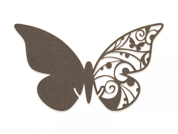 Elfenstall Namenskärtchen 10 Stück Schmetterling Dunkelbraun