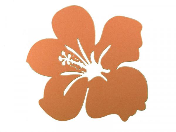Elfenstall Namenskärtchen 10 Stück Blume Orange