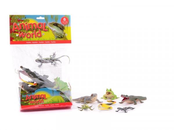 Animal World Spielfiguren Reptilien - Tiere 6 Stück im Set