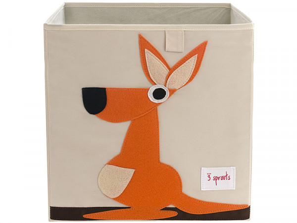 3 Sprouts Aufbewahrungsbox Regalbox Motiv Känguru