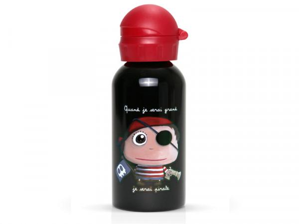 Label'tour Trinkflasche Wasserflasche für Kinder Pirat