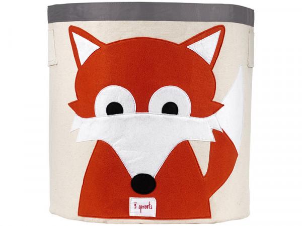 3 Sprouts Aufbewahrungskorb Spielzeugaufbewahrung Spielzeugkorb Fuchs