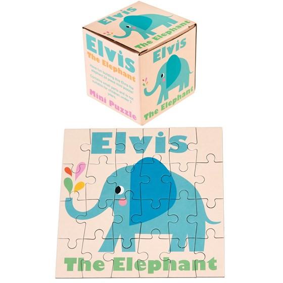 "24-teiliges Mini-Puzzle Elefant ""Elvis the elephant"""