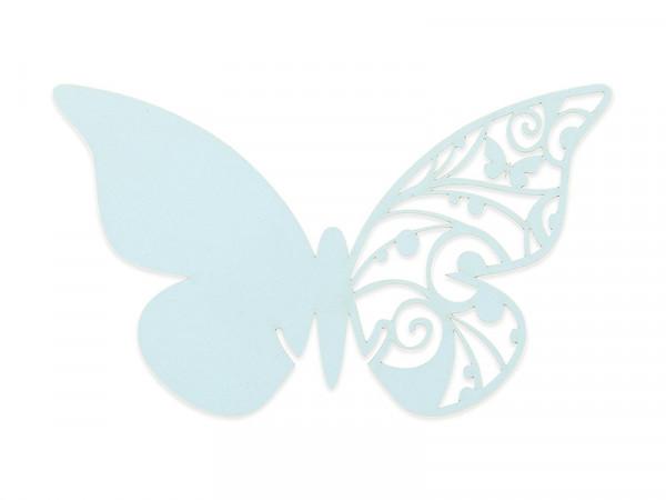 Elfenstall Namenskärtchen 10 Stück Schmetterling Hellblau
