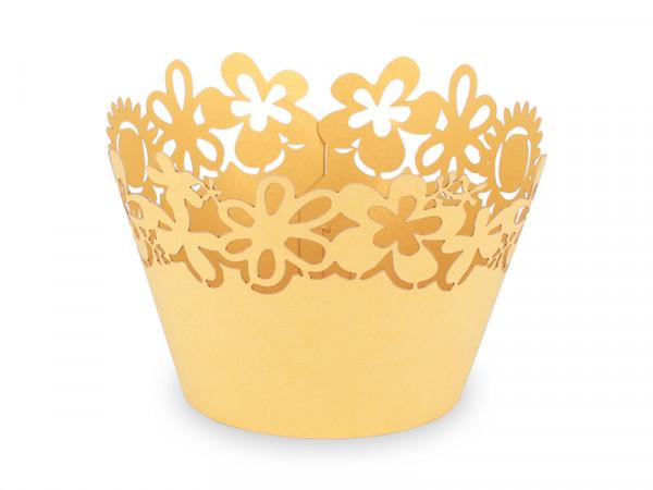 Elfenstall Muffin Zierumrandung 12 Stück Sonnenblumen Gelb