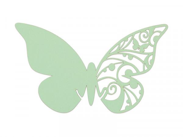 Elfenstall Namenskärtchen 10 Stück Schmetterling Hellgrün
