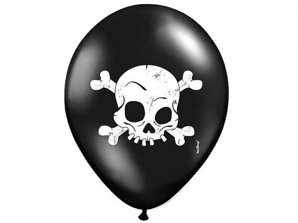 Luftballons Ballon Halloween Totenkopf 30 cm schwarz