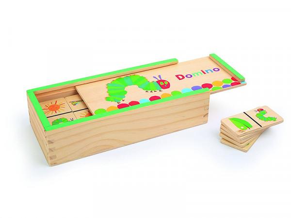 Small Foot Design Holzdomino Domino Holzspielzeug Raupe Nimmersatt