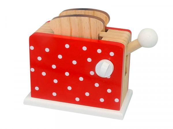 Magni Holz-Toaster mit Pop-Funktion mit Toastscheiben in rot