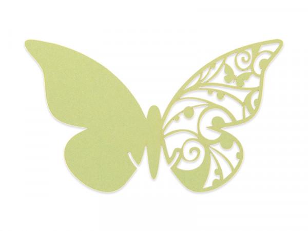 Elfenstall Namenskärtchen 10 Stück Schmetterling Gelbgrün