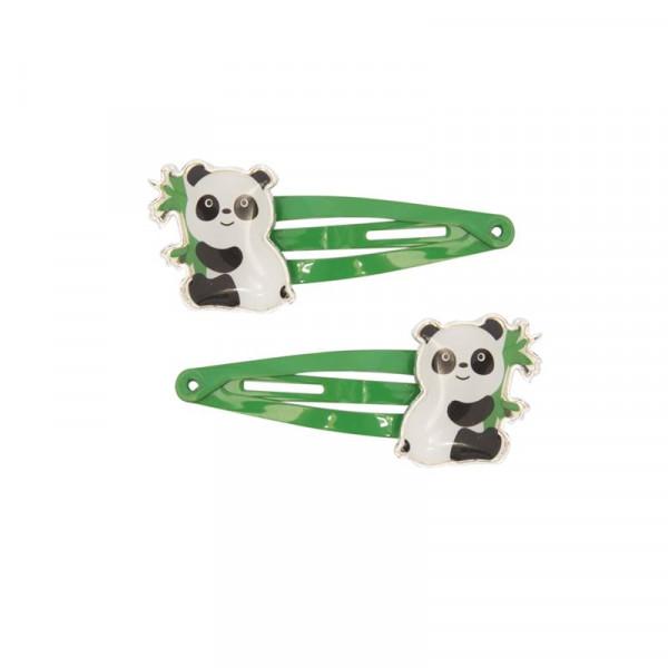 Global Affairs Haarspangen Kinderhaarspangen Motiv Panda grün