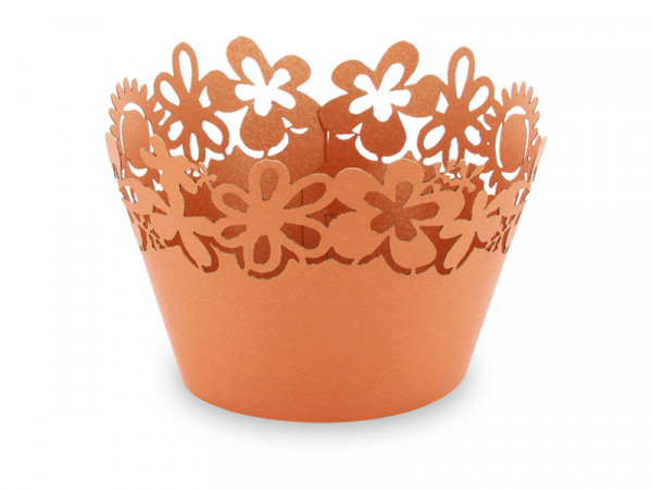 Elfenstall Muffin Zierumrandung 12 Stück Sonnenblumen Bronze