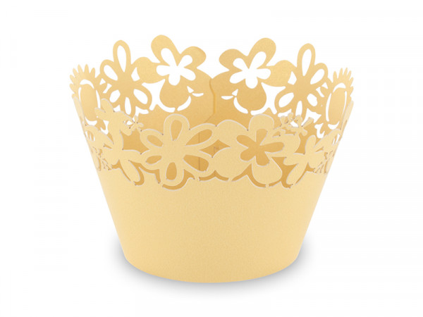 Elfenstall Muffin Zierumrandung 12 Stück Sonnenblumen Hellgelb