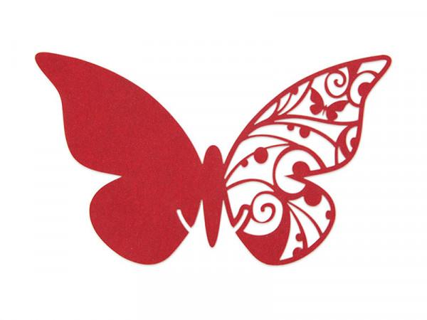 Elfenstall Namenskärtchen 10 Stück Schmetterling Rot